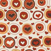 Romántico de patrones sin fisuras con corazones — Vector de stock