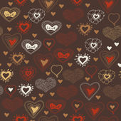 Padrão sem emenda brilhante com corações. — Vetorial Stock
