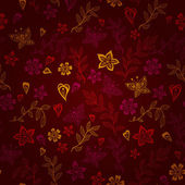 Rontic pattern with butterflies and flowers — Vector de stock