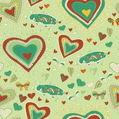 Romantic concept seamless pattern. — Stock Vector