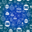Blue Christmas Seamless Pattern. — Stock Vector