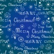 Blue seamless Christmas background. — Stock Vector