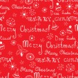 Vector Christmas words in text seamless pattern — Stock Vector