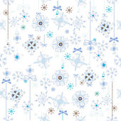 Christmas seamless texture with snowflakes — Stock Vector