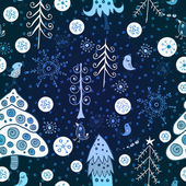 Christmas forest. seamless pattern — Stock vektor