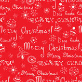 Vector Christmas words in text seamless pattern — Vector de stock