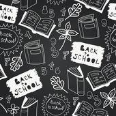 Vector chalkboard school seamless pattern — Stockvektor