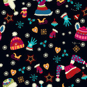 Bright pattern with Christmas toys — Vecteur
