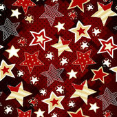Briht stars on red mosaic background — Stock Vector