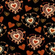 Bright Pattern for Valentine's Day. — Stockvector