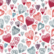 Seamless pattern with hand drawn hearts. — Stock Vector #40908867