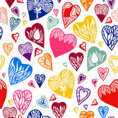 Vector seamless pattern of heart. — Stock Vector