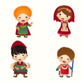 Cartoon Medieval people icon. Set — Stock Vector