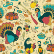 Seamless texture with the Thanksgiving Day icons — Stock Vector #46013743