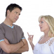 Mature couple having conflict — Stock Photo