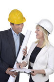 Male and female architect meeting — Stock Photo