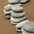Basalt Stones on Beach — Stock Photo