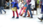 Legs youth, kids clothed colorful — Stock Photo
