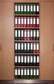 Armario de oficina con carpetas — Foto de Stock