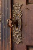 Vecchia serratura con chiave — Foto Stock