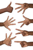 Hands show numbers — Stock Photo