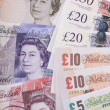 British pounds banknotes — Stock Photo