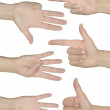 Hands show numbers international — Stock Photo