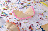Colored pencil remains — Stock Photo