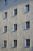 Facade with windows — Stock Photo