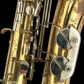 Old Saxophone Detail — Stock Photo
