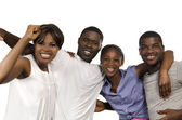 Four african Friends in joy — Stock Photo