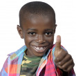 Africboy showing thumb up — Zdjęcie stockowe #37013683