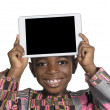 African Boy showing Tablet PC, Free Copy Space — Stock Photo #37013991