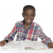 AfricBoy with Text Book — Stock Photo #37014469