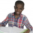 African Boy with Text Book — Stock Photo #37015599