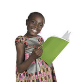 African Girl with text book — Stock Photo