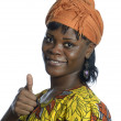Stock Photo: Pretty africwomthumb up