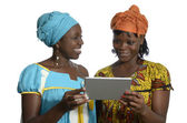 African women with tablet PC — Stock Photo
