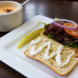 Stock Photo: Roast Beef Sandwich and Soup