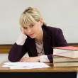 Tired Woman Teacher — Stock Photo #27681317