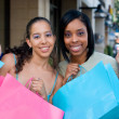 Two Women Friends Shopping — Stock Photo