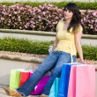 Tired WomShopping In City — Stock Photo #27682675