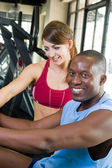Man And Woman Fitness Exercise — Stock Photo