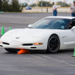 Corvette At PCA Autocross — Stock Photo