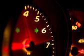 Glowing Tachometer — Stock Photo