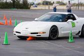 Corvette At PCA Autocross — Foto de Stock
