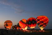 Hot Air Balloon Glow At Night — Stock Photo