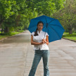 Beautiful Woman Holding Umbrella 2 — Stock Photo
