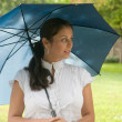 Beautiful Woman Holding Umbrella 3b — Stock Photo