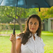 Beautiful Woman Holding Umbrella 4 — Stock Photo #28124187